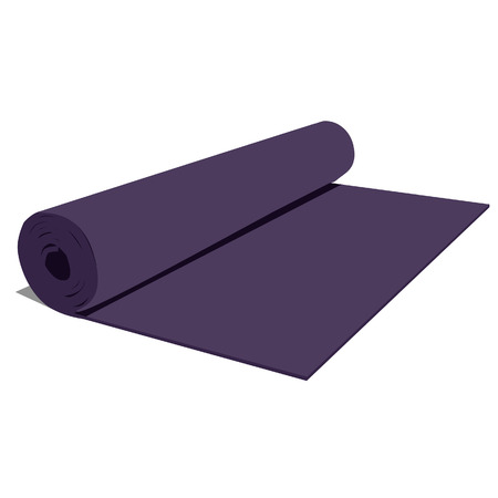 aerobics class: Yoga mat, purple yoga mat, yoga mat vector, yoga mat isolated