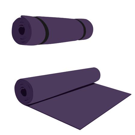 aerobics class: Yoga mat, purple yoga mat, yoga mat vector, yoga mat isolated
