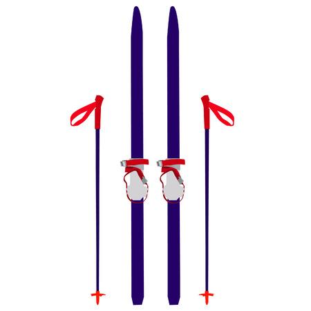 Ski's vector, skis geïsoleerde, ski's vector, blauwe ski's