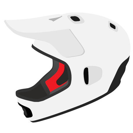 casque: Snowboard helmet, ski helmet, white helmet, isolated vector