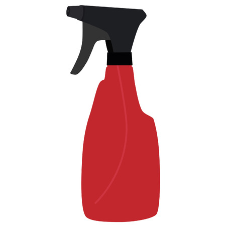 trigger: Red spray bottle, cleaning supplies, water spray bottle
