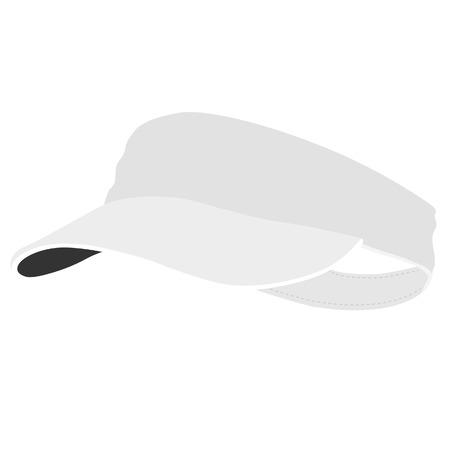 poliester: Gorra de tenis blancos, gorra de tenis aislado, sombrero de tenis, accesorios Vectores