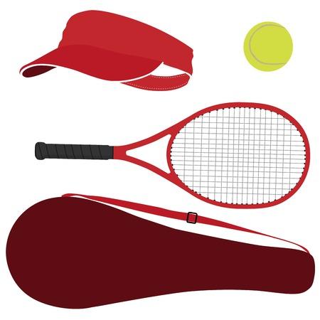Tennis racket, tennis bal, tennis raquet, sportartikelen, racket hoes