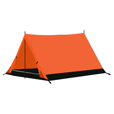 camping equipment: Camping tent, camping equipment, camping tent isolated on white Illustration