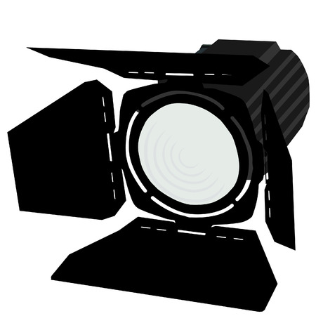Spotlight, black spotlights, spotlights icon, stage lights Stock Illustratie