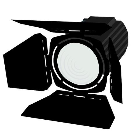 Spotlight, czarne reflektory, reflektory, oświetlenie sceniczne ikona Ilustracje wektorowe