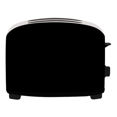 toaster: Black toaster, toaster icon, toaster isolated, toaster vector