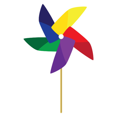wind mill toy: Toy windmill, pinwheel, windmill paper, windmill toy vector