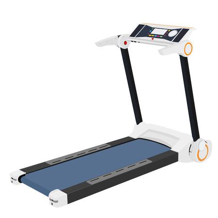 gym equipment: Tapis roulant in esecuzione, attrezzature da palestra, tapis roulant vettore, tapis roulant isolato Vettoriali
