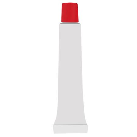 red tube: Tubo rojo, pasta de dientes, un tubo tootpaste, pasta de dientes aislados