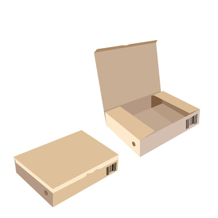 software box: Brown box, cardboard box, software box, carton box, opened box, closed box