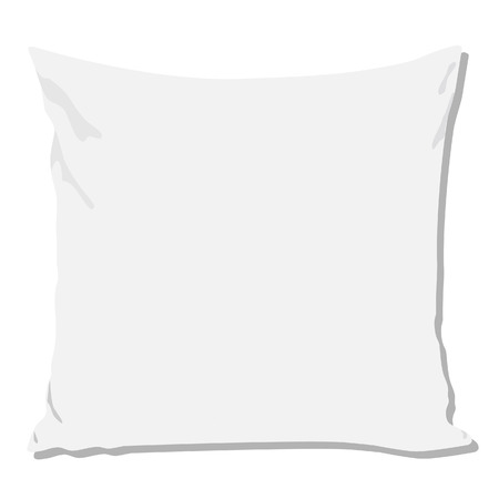 softy: White pillow, pillow isolated, pillow vector, pillow