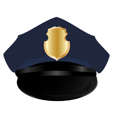 cappelli: Cappello di polizia, cappello di polizia isolato, cappello di polizia vettore, sceriffo
