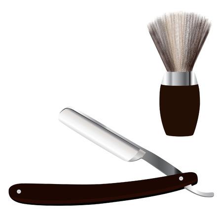 shave: Barber razor, barber shave, shave brush, shaving razor, razor con