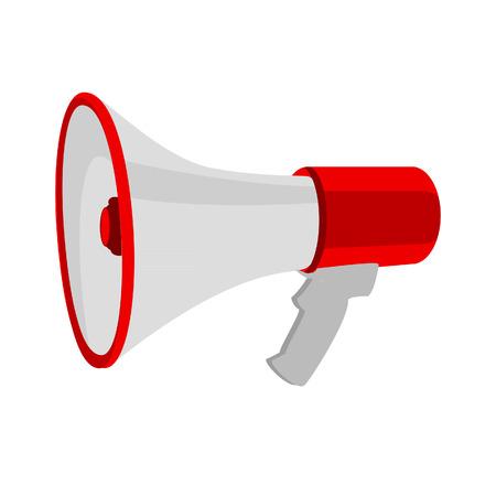 megafono: Megáfono, megáfono aislado, icono megáfono, vector magephone Vectores