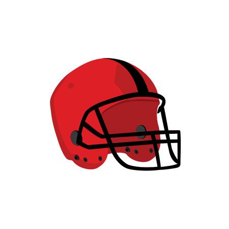 Red rugby helmet, rugby helmet, american football