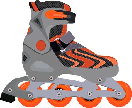 rollerblade: Rolerblade vector, rollerskating, rollerblading, orange rollerblade, sport equipment