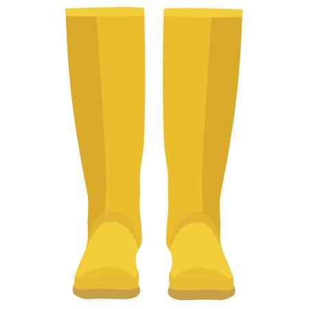 calzado de seguridad: Botas de goma, botas de goma, botas de goma aislado amarillo