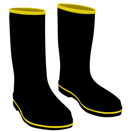 gumboots: Rubber boots, rubber boots isolated, black rubber boots
