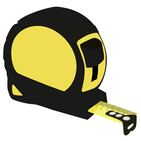 instrument of measurement: Tape measure, tape measure icon, tape measure isolated, centimeter