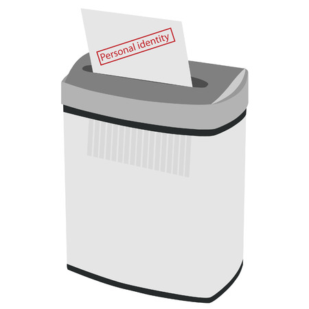 confidentiality: Shredder, paper shredder, document shredder, paper vector, shredder icon