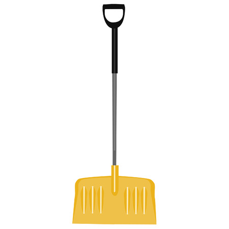 digging: Snow shovel, yellow shovel, handtool, digging, snow shovel isolated