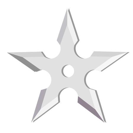 shuriken: Ninja estrella que lanza aislado en blanco, shuriken, arma