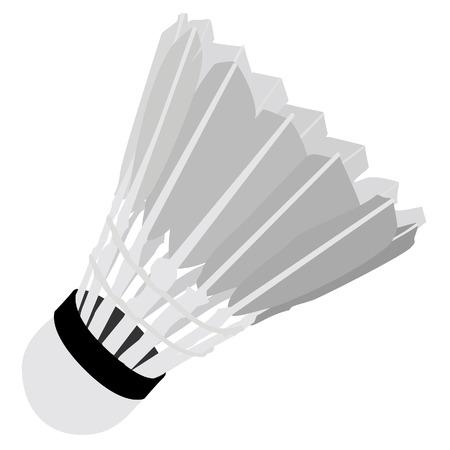 shuttlecock: Shuttlecock, shuttlecock isolated on white, sport equipment, badminton Illustration