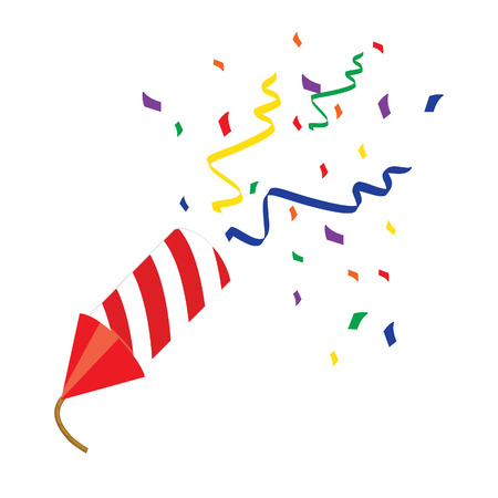 Red petard , confetti, firecracker, firecracker vector, petard vector