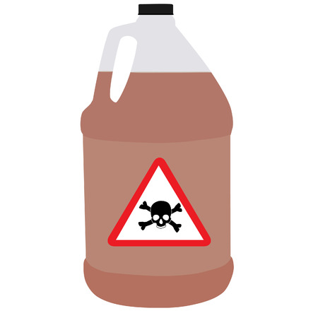corrosive poison: Bottle vector, biohazard symbol, toxic symbol, biochemical