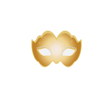 decoration decorative disguise: Mask gold, masquerade mask, party mask, masquerade mask isolated