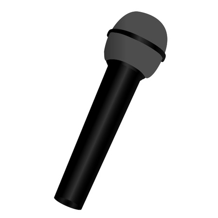 microphone: Black microphone, microphone icon, microphone isolated, instrument