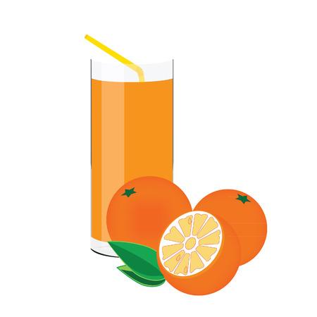 citrus fruit: Orange juice, orange fruit, citrus fruit, vitamin c, healthy lifestyle Illustration