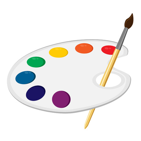 art painting: Art palette, paint palette, art supplies, color palette, palette vector