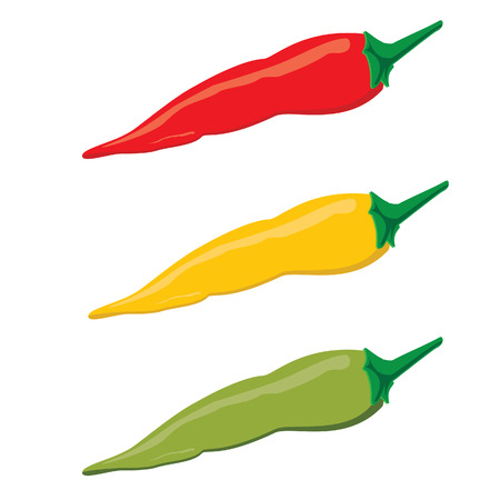 spicy chilli: Chilli peppers, spicy food, mexican chilli, mexican cuisine Illustration
