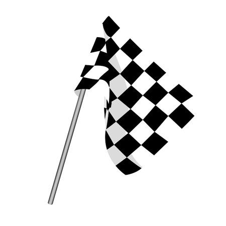 Iniciar bandera, bandera a cuadros, bandera de meta, bandera de carreras