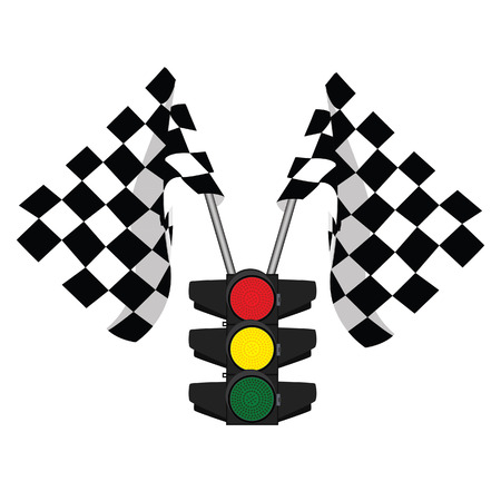 finish flag: Traffic lights, finish flag, start flag, racing flag