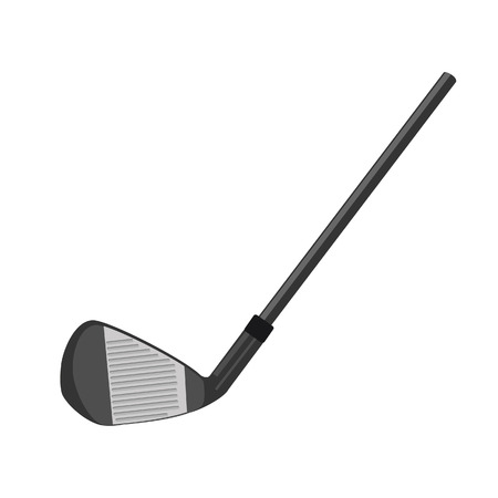 isolated on grey: Golf club, golf club isolated, grey golf club