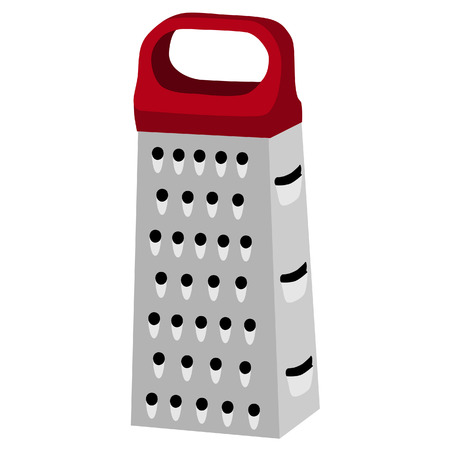 grater: Cheese grater, red handle, grater isolated, grater vector
