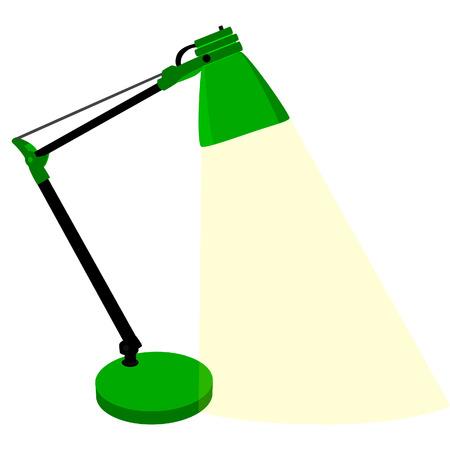 Tischlampe, Schreibtischlampe, Tischlampe isoliert, moderne Tischlampe