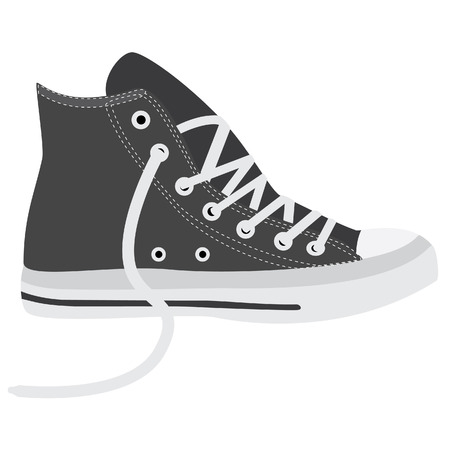 walking shoes: Grey sneakers, running shoes, sneakers isolated, walking shoes