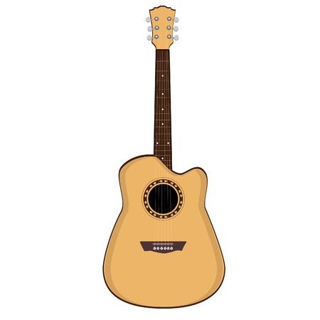 strumming: Guitar ,black guitar, acoustic guitar, guitar isolated Illustration