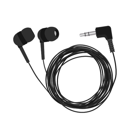 isolated on grey: Headphones, earphones, earphones isolated, grey headphones, headphones vector