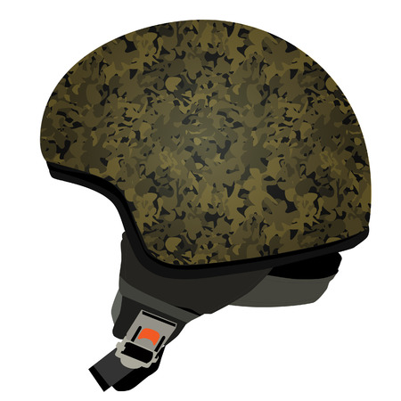 survive: Green military helmet, police helmet, military helmet, police icon, police hat Illustration
