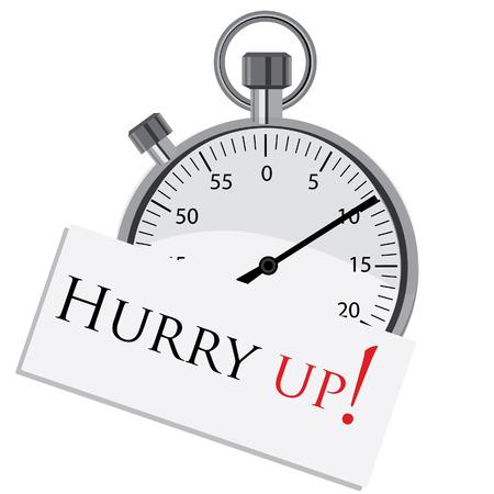 hurry up: Cronometro, vettore cronometro, data, sbrigati, icona del cronometro, icona di avviso