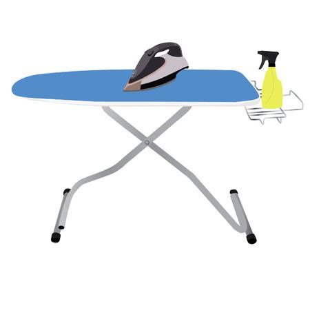 Ironing board, iron vector, spray, household appliances Vector