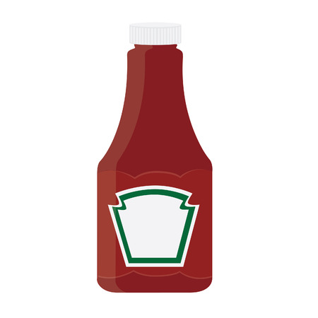 Ketchup bottle, tomato sauce, ketchuo isolated, ketchup vector Illustration