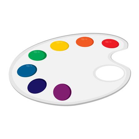 paint palette: Art palette, paint palette, art supplies, color palette, palette vector