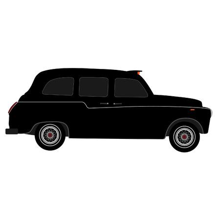 black cab: Black London taxi vector isolated, black cab