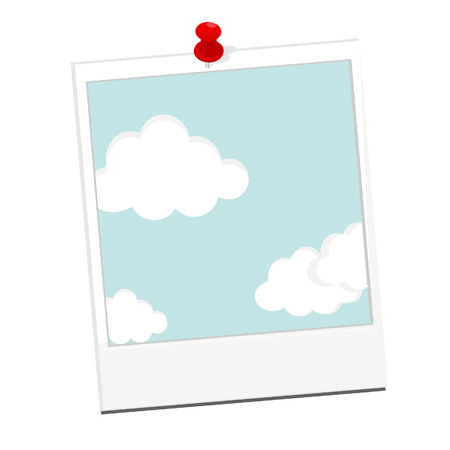 ร   ร   ร   ร  ร ยข  white clouds: photo with blue sky and white clouds vector illustration